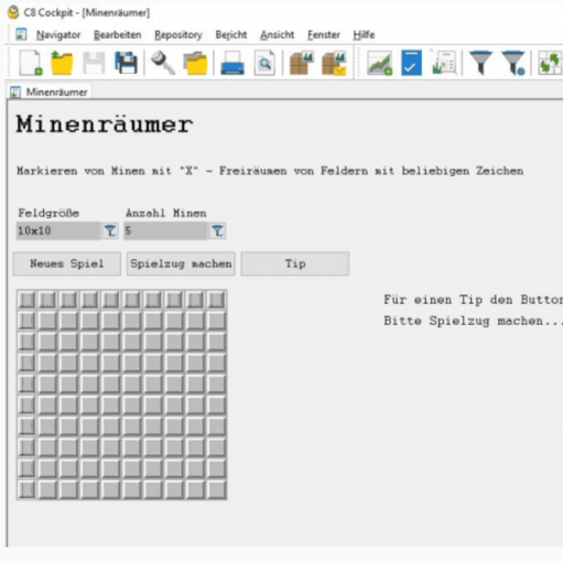 Minesweeper auf der CW1 Datenbank powered by IBM?